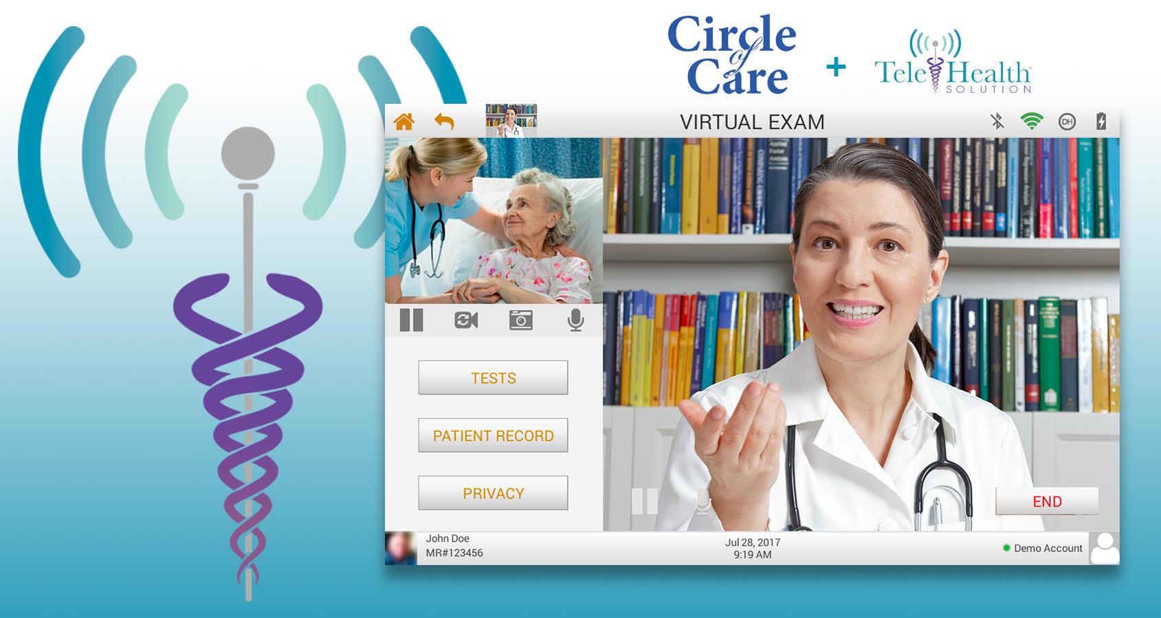 Circle of Care partnered with TeleHealth Solution Technology